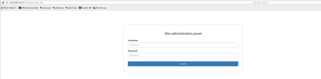 192.168.101.9 site login and token