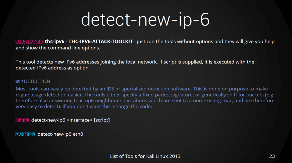 detect-new-ipv-6, IPV6 hack